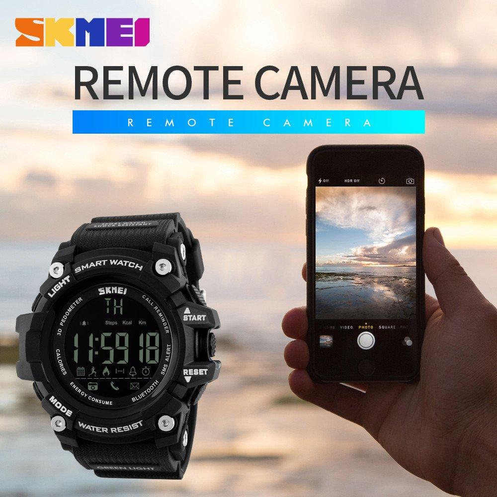 Cebbay Reloj Inteligente para Actividades al Aire Libre, Deportivo, Militar, Sumergible, cronógrafo, Cuenta atrás, Luces LED Reloj Digital Smart Watch: ...