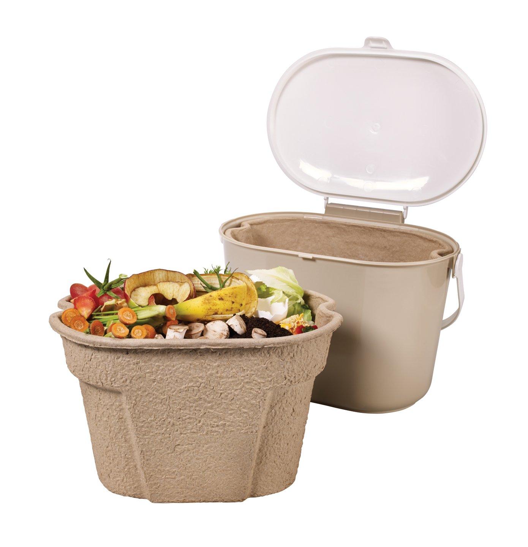 Compost Bin Buddy Kitchen Compost Collector Mini Bin Liner, Oval 20 ...