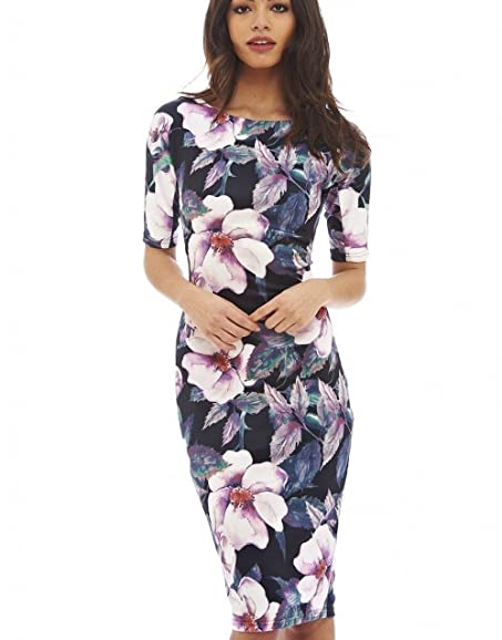 Women Dress Vestidos Designer Elegant Floral Print Work Business Casual Party