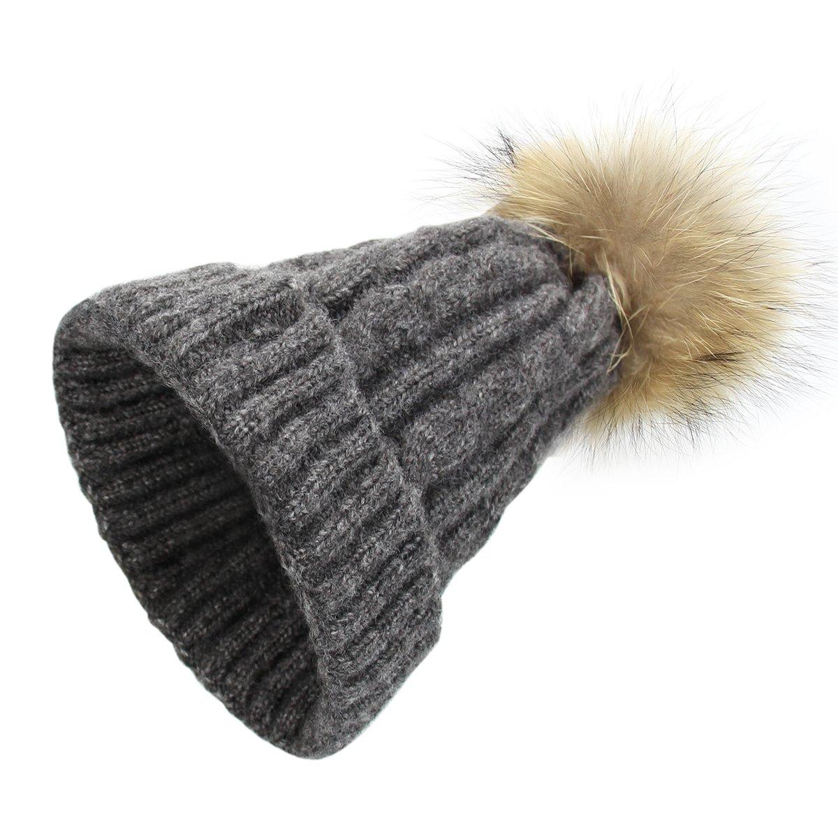 Bébé bonnet au Crochet Chapeau d'Automne-Hiver La Laine Chaude avec pompom mignon en laine tricoté de ski chauffage casquette RUNFON I88W162942F5RN664