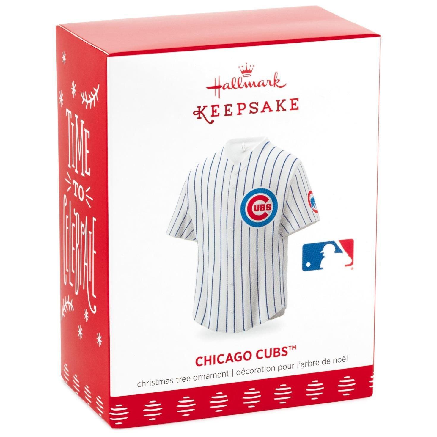 Hallmark MLB Chicago Cubs Jersey Keepsake Christmas Ornaments
