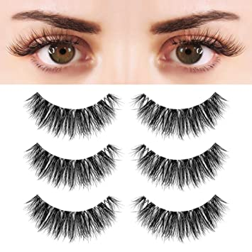 46d6cce2737 Buy BEPHOLAN 3 Pairs Multi-layered Faux Mink Lashes| Fluffy Volume Lashes|  Natural Look| 3D Layered Effect| Reusable| 100% Handmade & Cruelty-Free|  XMZ91 ...