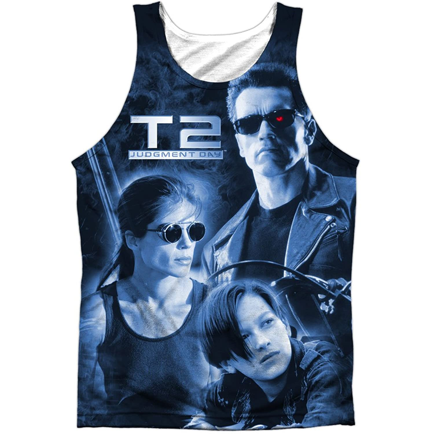 Terminator 2: Judgment Day Film Black & White Poster Front Print Tank Top Shirt