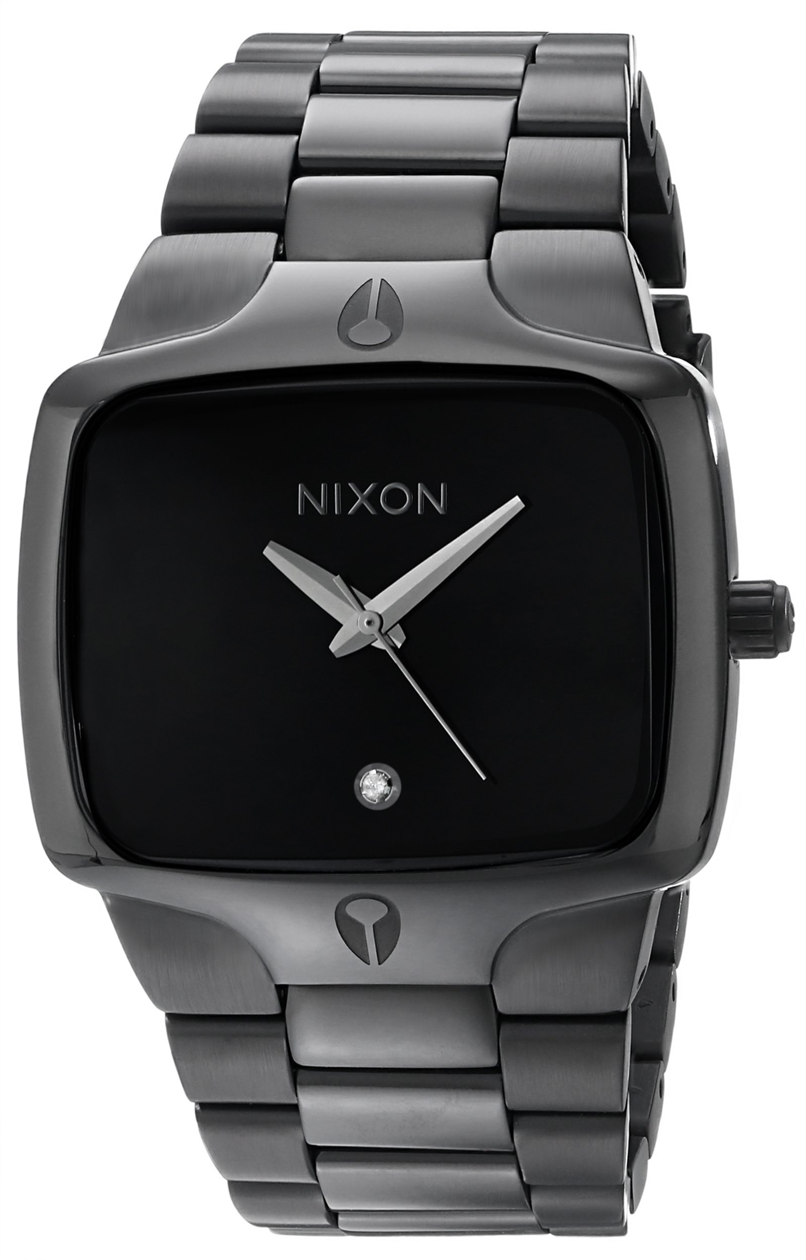 NIXON Player A140 - All Black - 100m Water Resistant Men's Analog Fashion Watch (40mm Watch Face, 26.5mm-20mm Stainless Steel Band) by NIXON