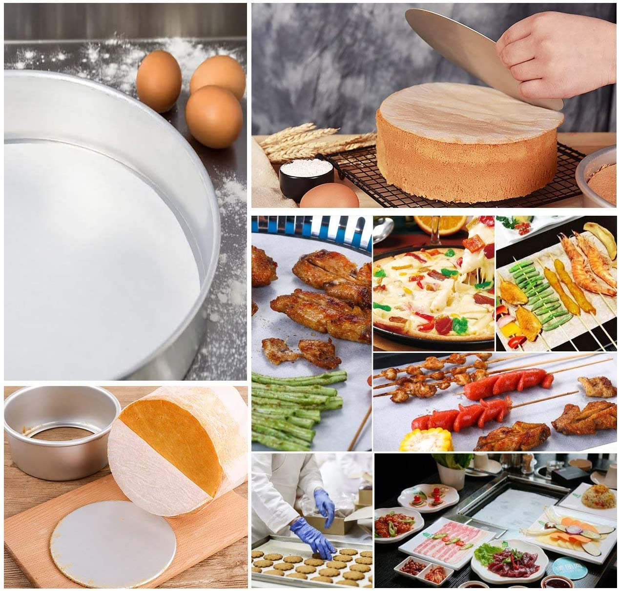 7 inch Parchment Paper Baking Circles Air Fryer Cooking 200 Eco-Friendly Pack Baking Paper Liners for Round Cake Pans Circle Cheesecake
