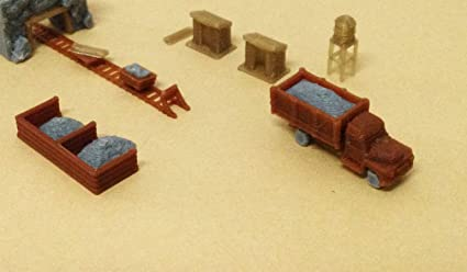 Outland Models Train Railway Ore Mining Accessories: Cart Truck Shanty   Z  Scale