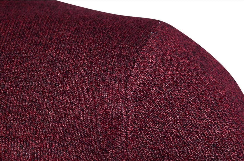 UNINUKOO Unko Mens Slim Fit Knit Sweaters Long Sleeve Warm Casual Pullover Knitwear
