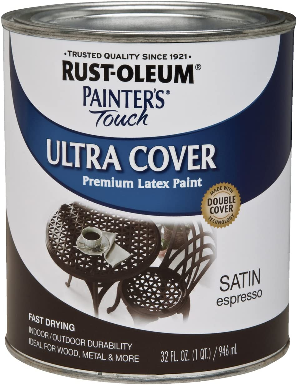 Rust-Oleum 242018 Painters Touch Quart Latex, Satin Espresso