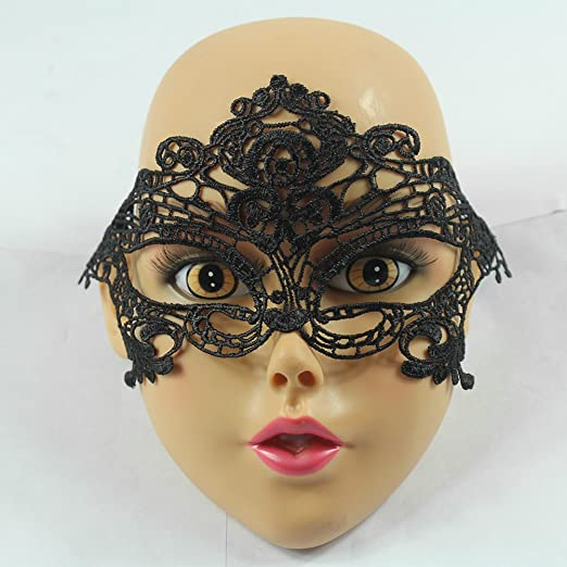 LAMEIDA Máscara de Encaje para Mujer Disfraz de Encaje Veneciano ...