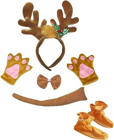 Petitebelle Navidad reno diadema Bowtie Guantes de cola Zapatos ...