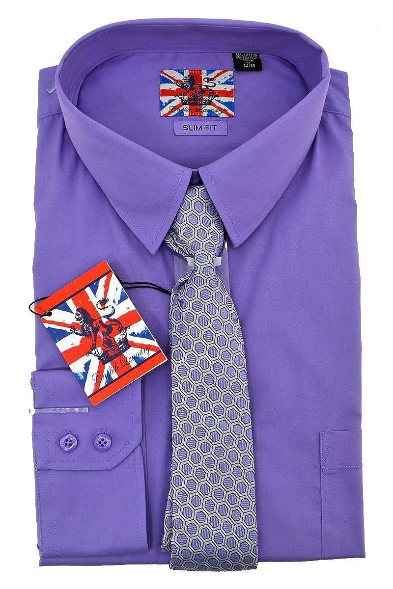 English Laundry Dress Shirt Tie Combo Slim Fit 17 3435 At Amazon