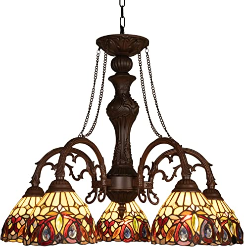 Capulina Handcrafted Tiffany Glass Chandelier