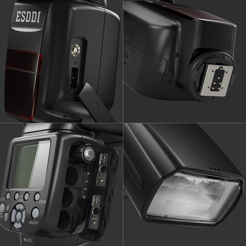 Camera Flash for Nikon,DSLR Camera,I-TTL 1/8000 HSS GN58,Multi,ESDDI Wireless Camera Flash Set Include 2.4G Wireless Flash Trigger,Cold Shoe Base Bracket and Accessories by ESDDI