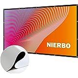 プロジェクター スクリーン 新しいアップグレード版 シワなし (取り付けのツール付き) NIERBO 100インチ サイズ 16:9 ローリング式 持ち運びホームシアター スクリーン 軽便 投影用 会議 教室 屋外屋内用 映画 スクリーン (100インチ)
