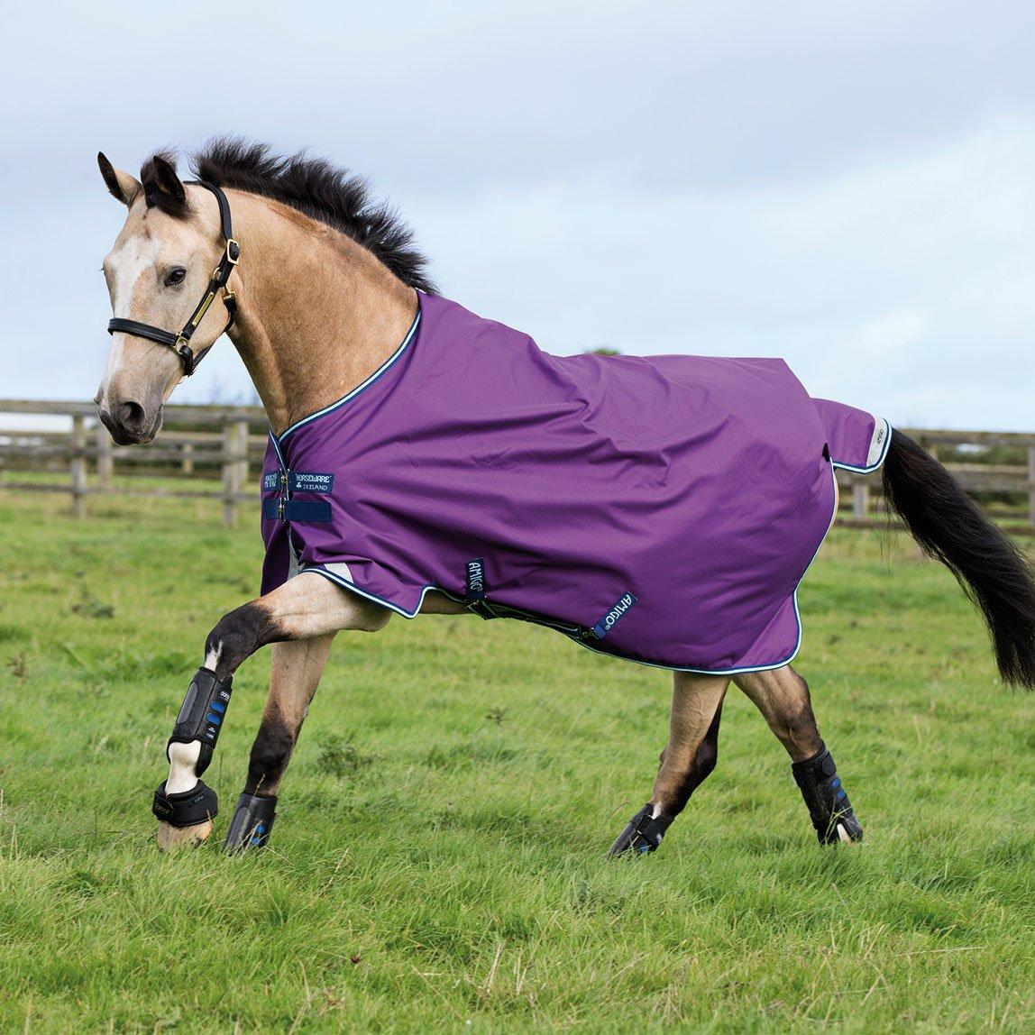 Horseware Amigo Bravo12 Turnout 100g 81 Purple/Nav