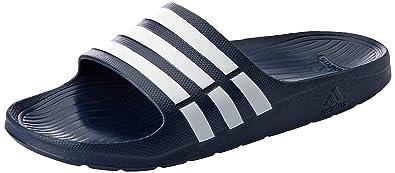 check out 2a397 66919 adidas Duramo Slide Chaussures de Plage  Piscine Homme, Bleu WhiteNew  Navy,
