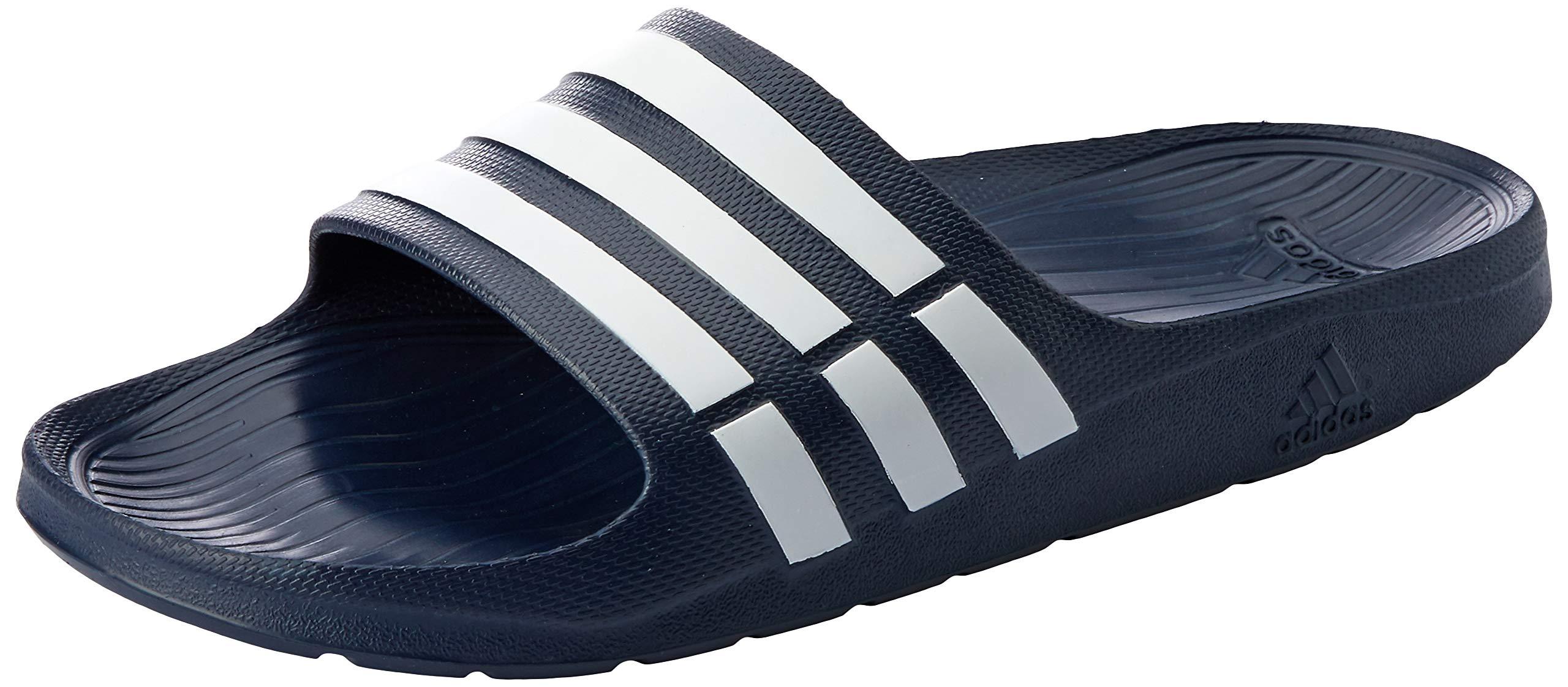 adidas Duramo Slide Dark Blue Synthetic Mens US 5