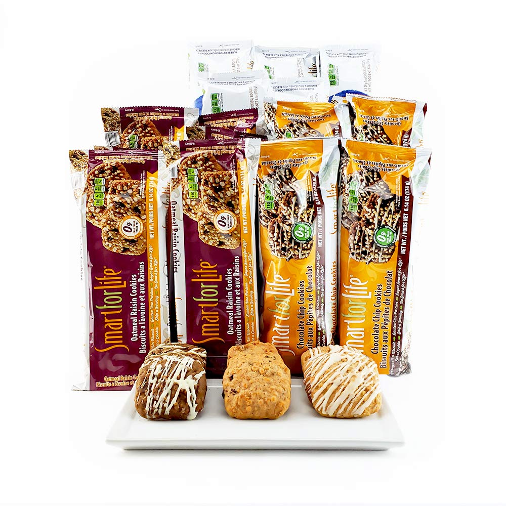 Smart for Life 3 Week Diet Cookies Oatmeal Raisin Blueberry Low Sugar High Protein High Fiber Lose Weight Fast 126 Cookies