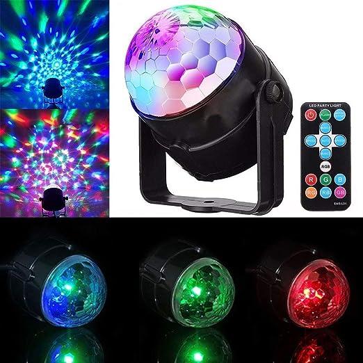 Color light Luces de Escenario DJ Disco Bola Luces de Fiesta ...