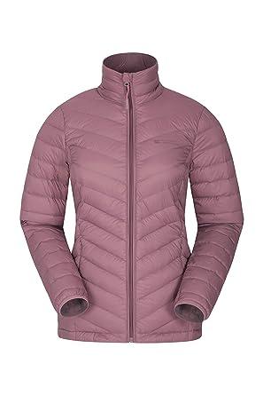 Mountain Warehouse Chaqueta de Plumas Featherweight para Mujer - Impermeable - Chaqueta térmica de Primavera - Ligera y Plegable - para Viajes, ...