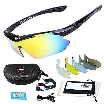 obaolay deporte gafas de sol protección bicicleta gafas con ...