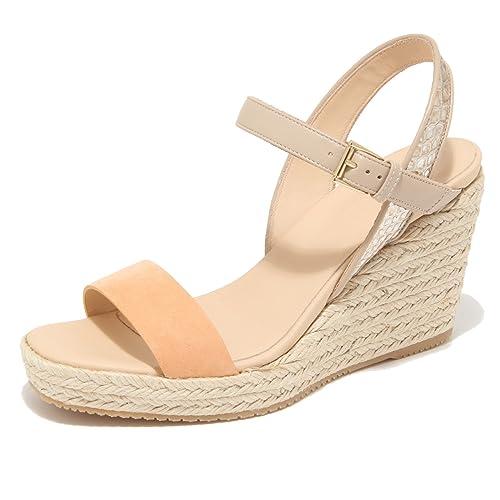 9838M sandalo zeppa HOGAN scarpe donna sandals shoes woman albicocca
