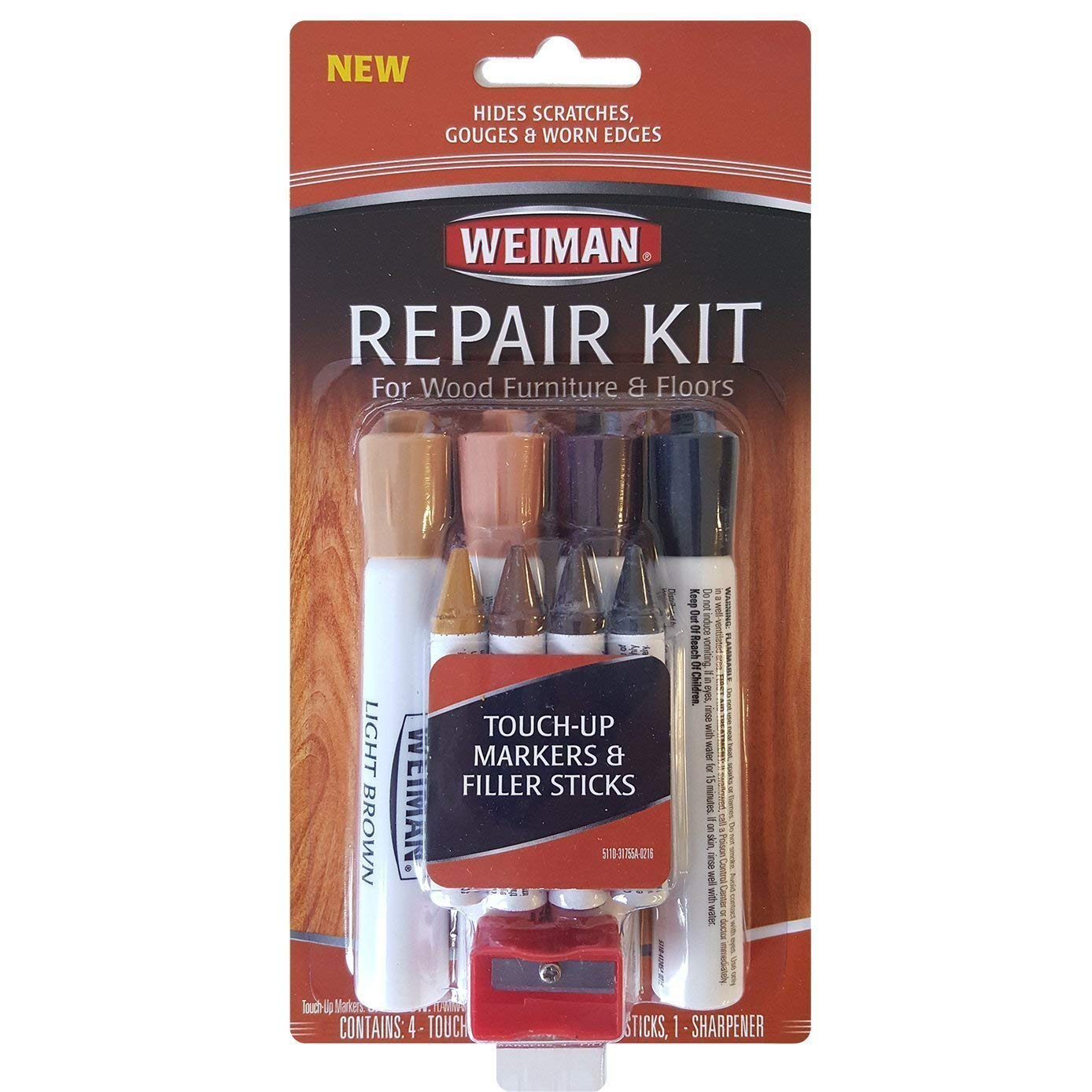 Weiman Repair Kit (4 Filler Sticks & 4 Touch up Markers) 3-Pack by Repair