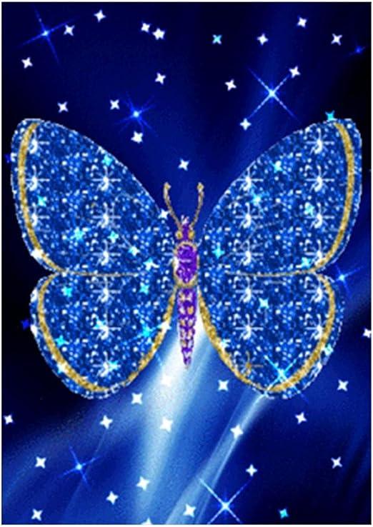 Staron Hot Sale DIY Diamond Cross Stitch Painting 5D Diamond Crystal Rhinestone Embroidery Painting DIY Art Craft Home Wall Decor Butterfly Flower 5D Diamond Painting
