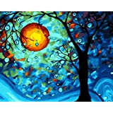 Suntown Paint by Numbers 40x50cm Canvas DIY Oil Painting for Kids and Adults Beginner with Brushes and Acylic Paints…