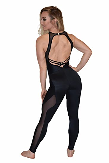 Amazoncom Cajubrasil Sexy Workout Jumpsuit 8155 Elegance One