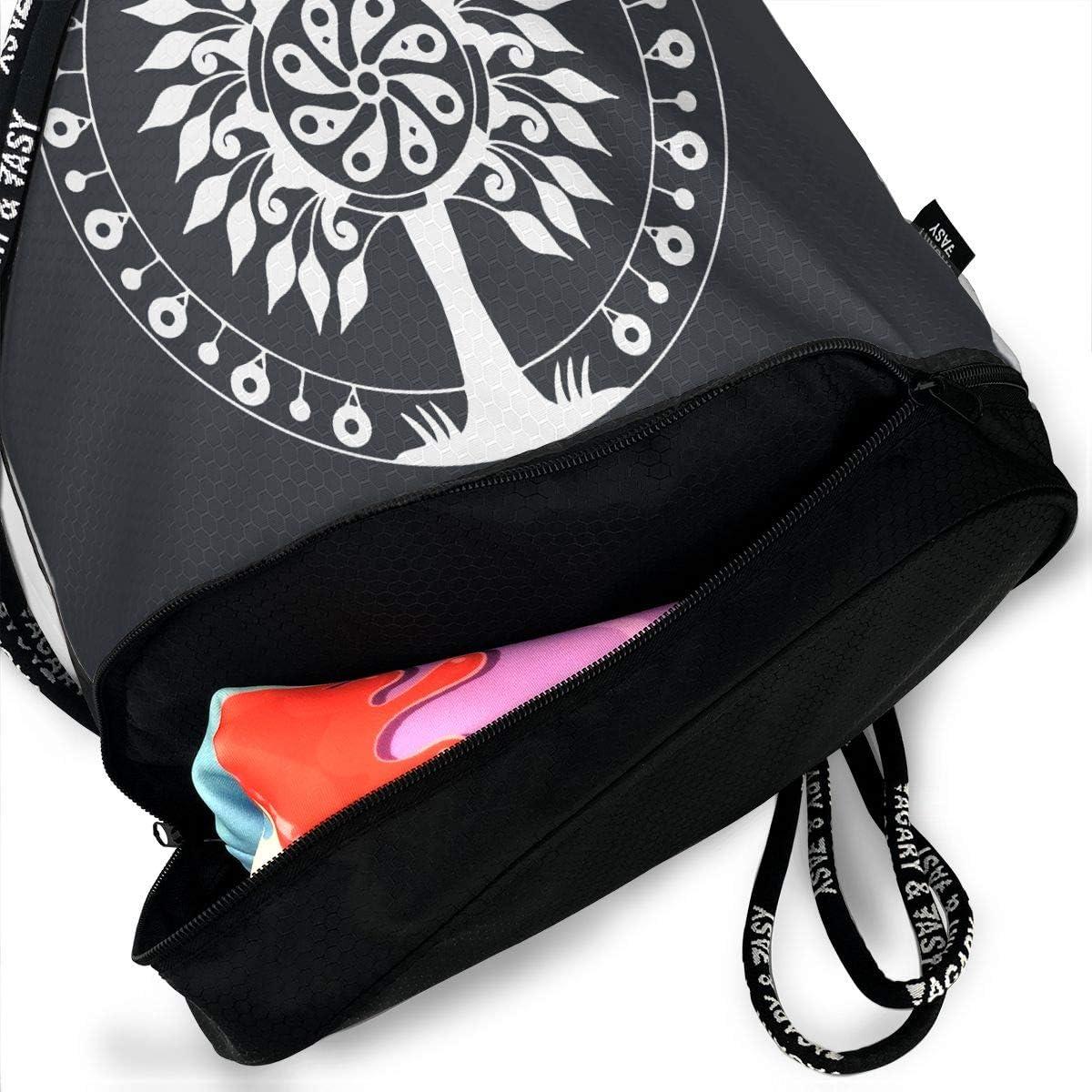 Tree Men /& Women Drawstring Pack Beam Mouth Sports Sackpack Rucksack Shoulder Bags