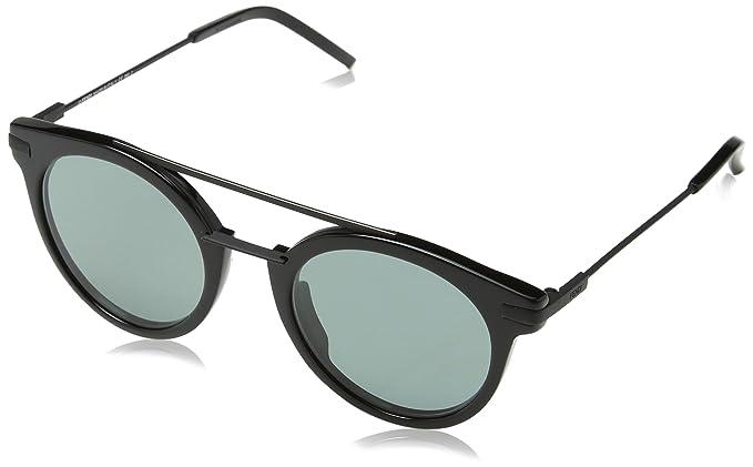 Fendi FF 0225/S QT 807 Gafas de sol, Negro (Black/Green), 49 ...