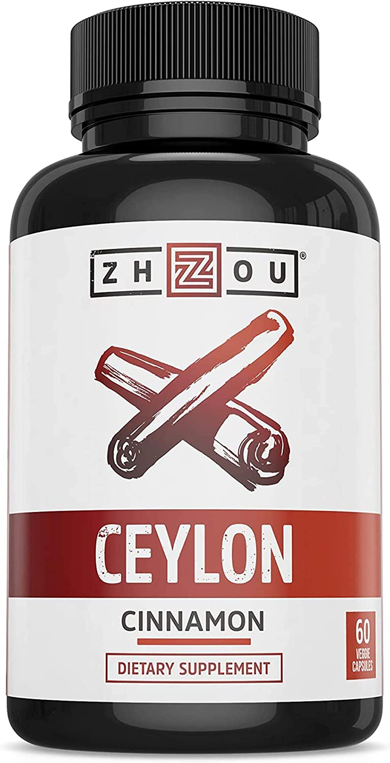 Ceylon Cinnamon Capsules - Designed to Support Blood Sugar, Heart Health and Joint Mobility - ' True Cinnamon ' Native to Sri Lanka - 1200mg per Serving: Health & Personal Care