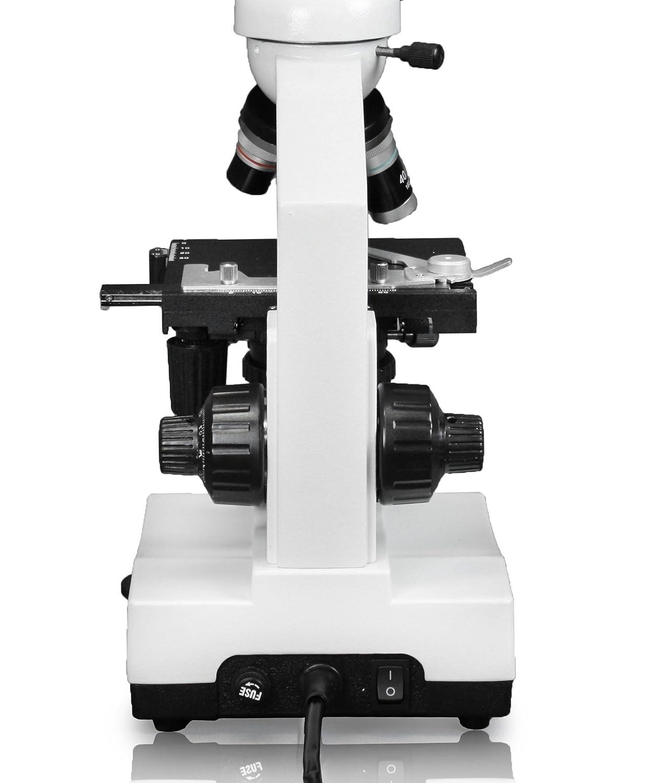 LED Illumination 5MP WiFi Digital Eyepiece Camera 1.25 NA Abbe Condenser 10x WF Eyepieces 40x-1000x Magnification Mechanical Stage Vision Scientific Trinocular Compound Microscope