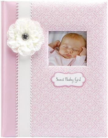 Newborn Shower Gift CR Gibson Baby Girl/'s First Memory Record Book Journal