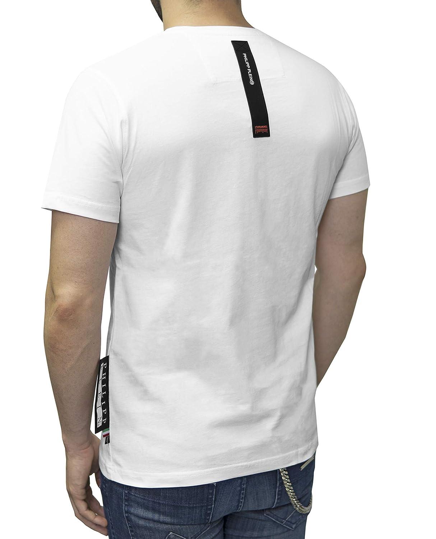 Amazon.com: Philipp Plein - Camiseta de corte platino con ...