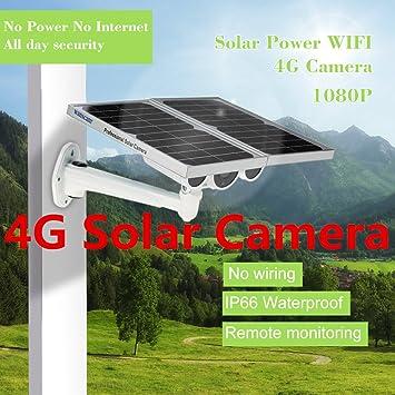 cámara móvil Solar Power 4G con visión Nocturna de 80m y monitoreo ...