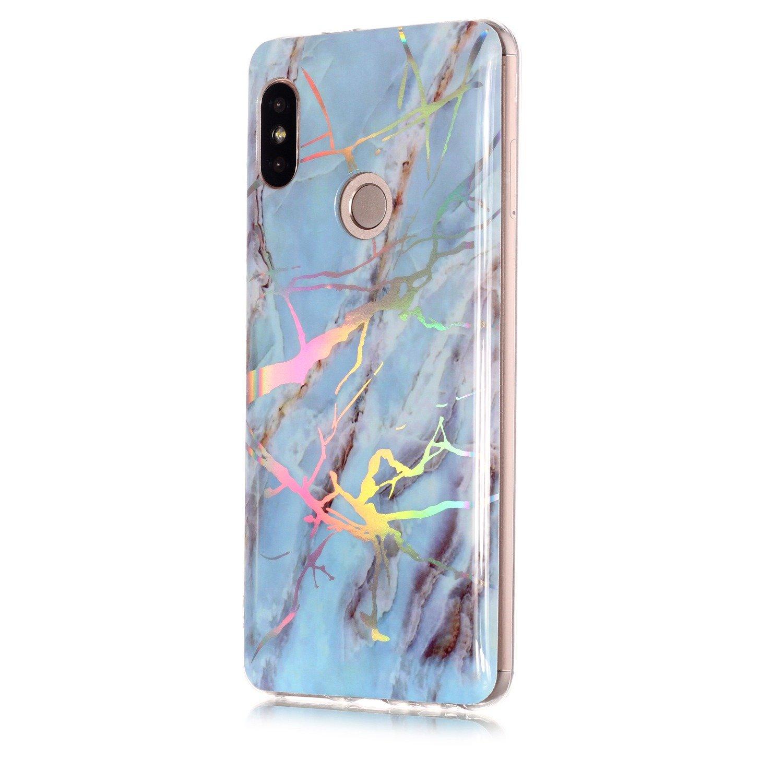HopMore Funda Xiaomi Redmi Note 5 Note 5 Pro Silicona Motivo M/ármol Marmol Bonita TPU Gel Carcasa Ultrafina Resistente Slim Case Antigolpes Caso Goma Protecci/ón Cover Blanc