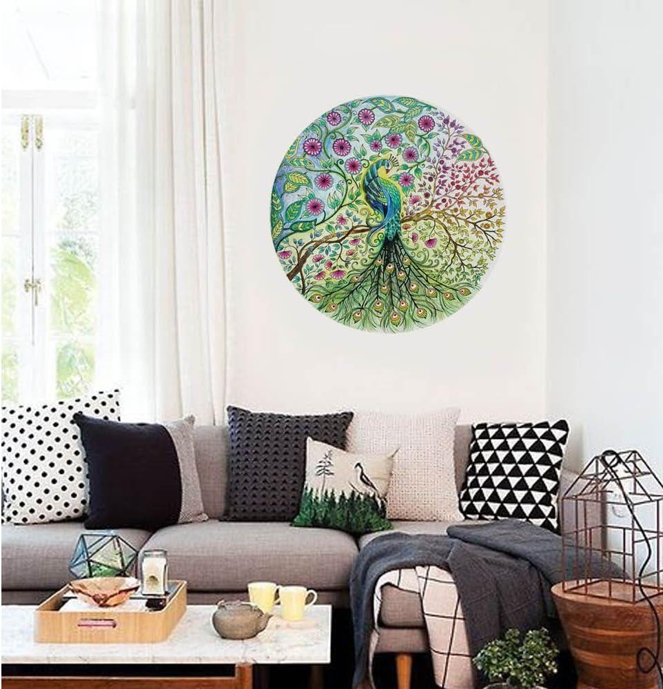 A Koolee Peacoke Rhinestone Painting Full Round Diamond Embroidery Home Decor 5D Diamond Painting