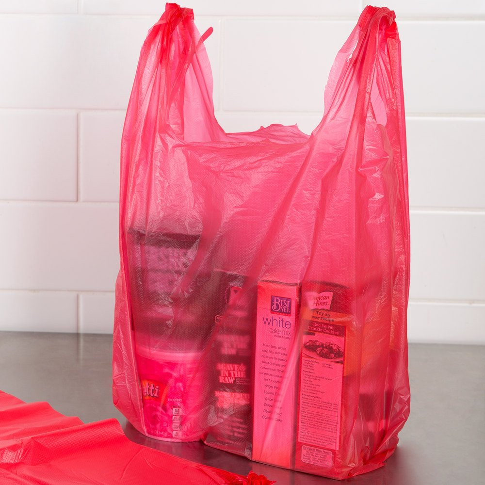 Black t shirt carryout bags 1000 ct - Amazon Com Rg Large Plastic Grocery T Shirts Carry Out Bag Red Unprinted 12 X 6 X 21 100ct Kitchen Dining
