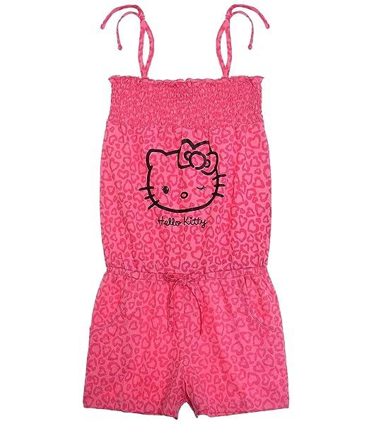 the best attitude 01142 c531c Hello Kitty - Vestito - Donna Rosa rosa scuro: Amazon.it ...