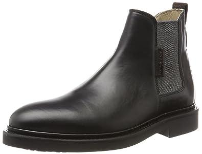 Marc O' Polo Flat Heel 70824105001108, Chelsea Boots Homme, Schwarz (Black), 40 EU