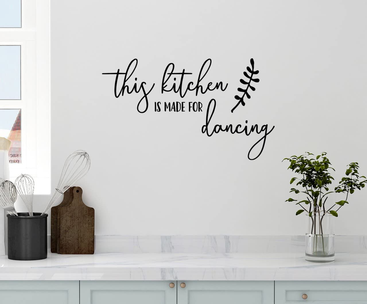 Amazon Com 24 X14 This Kitchen Is Made For Dancing Script Writing Family Memories Wall Decal Sticker Art Mural Home Decor Home Kitchen