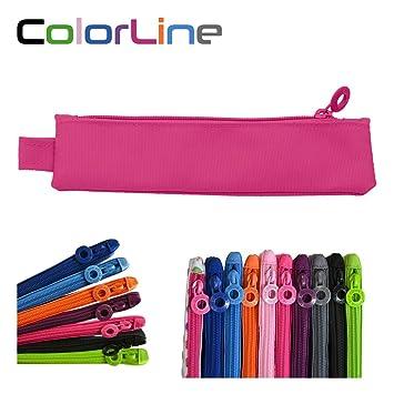 Colorline 59411 - Portatodo Mini, Estuche Multiuso para Viaje, Material Escolar, Neceser y Pequeños Objetos, Color Fucsia, Medidas 20 cm x 5 cm