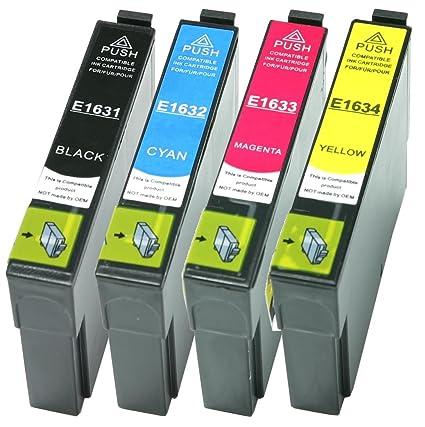 4 Cartuchos de impresora XL de color negro, cian, amarillo y ...