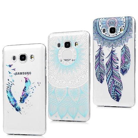 LANVY 3X Funda para Samsung Galaxy J5(2016), J510 Carcasa Silicona Gel Case Ultra Delgado TPU Goma Flexible Cover para Samsung Galaxy J5(2016)/J510 - ...
