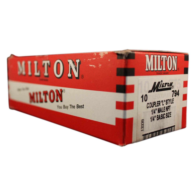 Milton 794 1//4 MNPT L Style Coupler Box of 10 Milton Industries