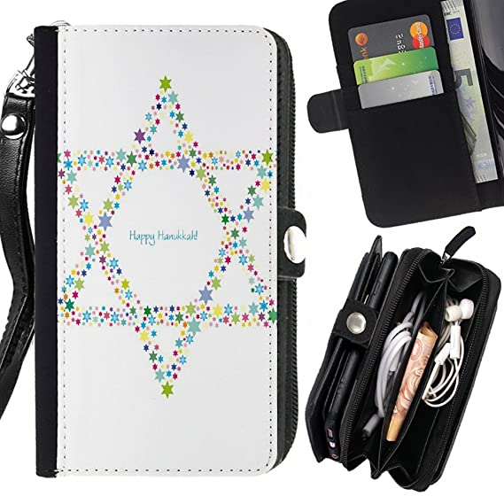 Amazon Fjcases Jewish Hebrew Symbols Card Holder Wallet With