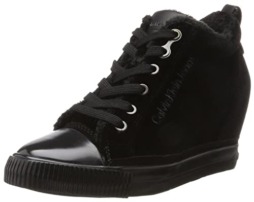 Calvin Klein Robina Velvet amazon-shoes neri Velluto