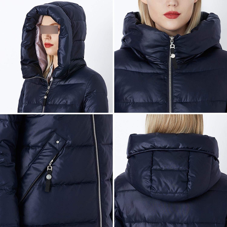 Leifun Cappotto Invernale Donna Parka con Cappuccio Giacche e Parka Donna Cappotto Militare Cappello Invernale Moda Cappotto Giacca 105 Heliotrope